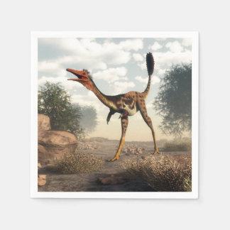 Mononykus Dinosaurier in der Wüste Serviette