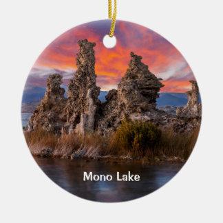 Monosee-Sonnenuntergang Keramik Ornament