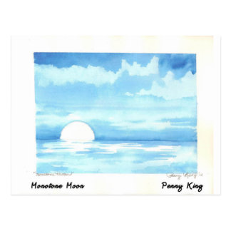 Monotoner Mond-ursprüngliche Aquarell-Malerei Postkarte