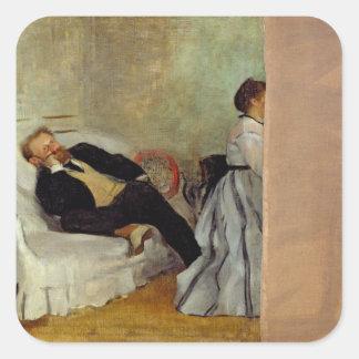 Monsieur und Madame Edouard Manet Edgar Degas-| Quadratischer Aufkleber