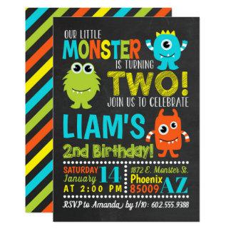 Monster-2. Geburtstags-Party Einladung