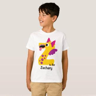 Monster-Alphabet-personalisiertes T-Shirt