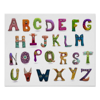 Monster-Alphabet Poster