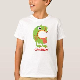 Monster beschriftet T - Shirt (Buchstaben C)