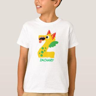 Monster beschriftet T - Shirt (Buchstaben Z)