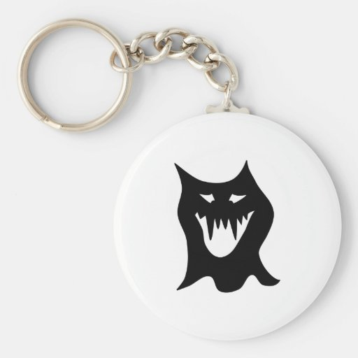 Monster-Cartoon, schwarz Schlüsselanhänger