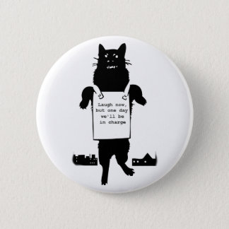 Monster Cat Runder Button 5,7 Cm