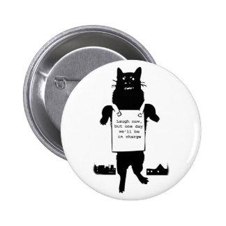 Monster Cat Runder Button 5,7 Cm