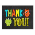 Monster danken Ihnen Postkarte