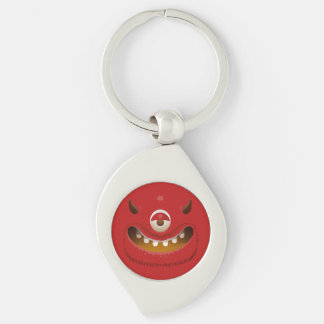 Monster-Gesicht Schlüsselanhänger