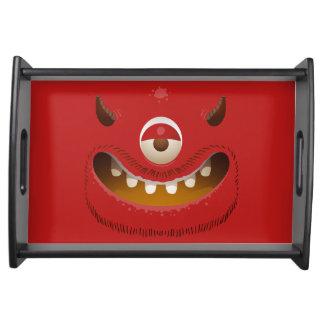 Monster-Gesicht Serviertablett