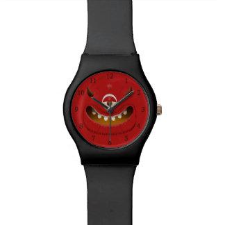 Monster-Gesicht Uhr