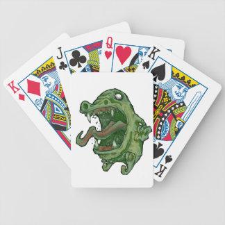 Monster-Grün Bicycle Spielkarten