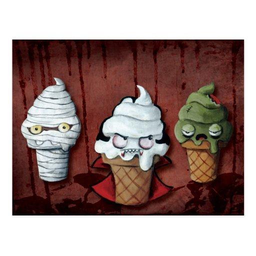 Monster-Halloween-Team! Postkarten