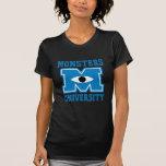Monster-Hochschulblau-Logo T Shirt