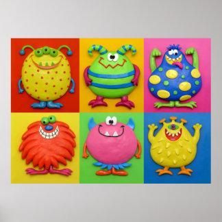Monster-Jungen-Raum Poster