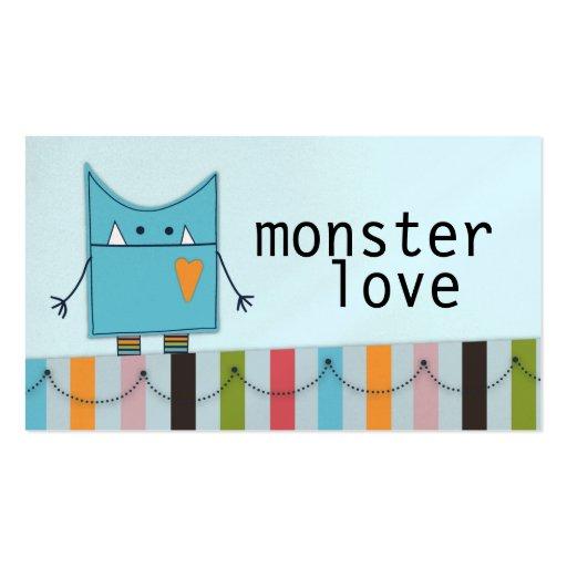 Monster-Liebe-Geschäfts-Karten Visitenkarten Vorlage