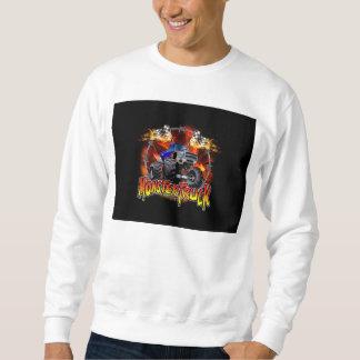 Monster-LKW-Blau auf Feuer Sweatshirt