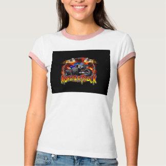 Monster-LKW-Blau auf Feuer T-Shirt