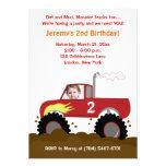 Monster-LKW-Foto-Geburtstags-Einladung (rot)