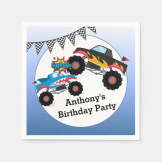 Monster-LKW scherzt Jungen-Geburtstags-Party Servietten