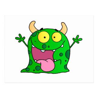 Monster-lustiges Comic, das Cartoon-niedliches Postkarten