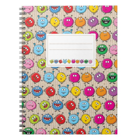 Monster Mix Ringbuch Spiral Notizblock