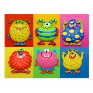 Monster-Party Postkarte