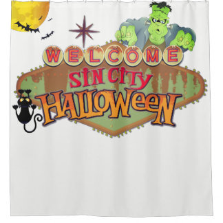 Monster Sin City Halloween Duschvorhang