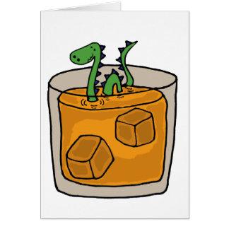 Monster von Loch Nessim schottischer Whisky-Glas Grußkarte