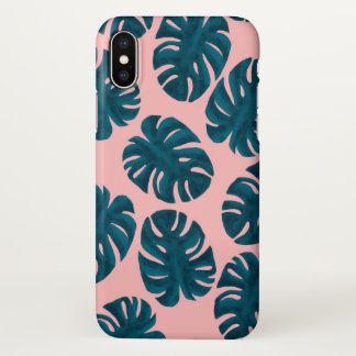 Monstera Blatt-Muster iPhone X Hülle