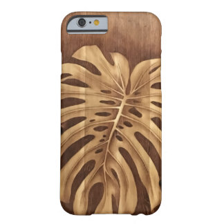 Monstera Holz befleckte Kunst Barely There iPhone 6 Hülle