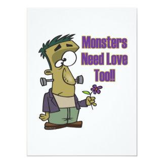 Monsterbedarfs-Liebe zu lustiges frankenstein Einladung