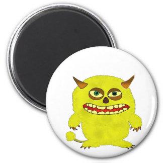 Monsterschleppangel-Halloween-Schauer Runder Magnet 5,7 Cm