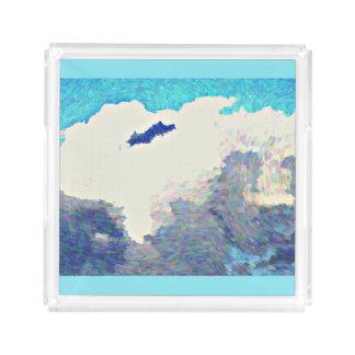 Monsun-Wolken im Öl-Acryl-Serviertablett Acryl Tablett