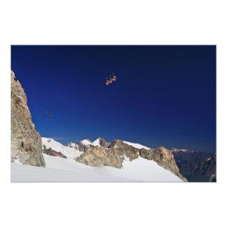 Mont Blanc-Gebirgsmassiv und mer De glace Photo Drucke