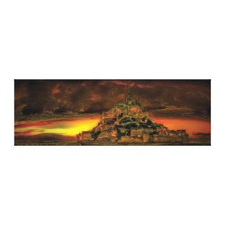 Mont Saint-Michel-Panorama Leinwanddruck