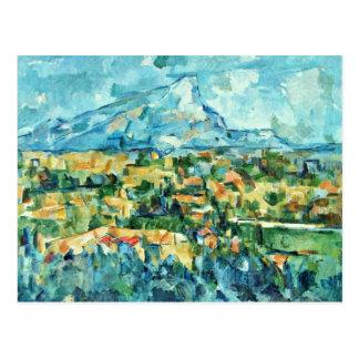 Mont Sainte-Victoire durch Paul Cézanne (beste Postkarte