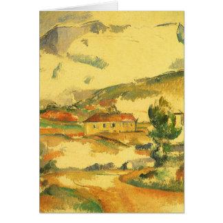 Mont Sainte Victoire durch Paul Cezanne, Vintage Karte