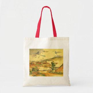 Mont Sainte Victoire durch Paul Cezanne, Vintage Tragetasche