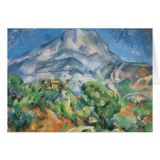 Mont Sainte Victoire über Tholonet, Paul Cezanne Karte