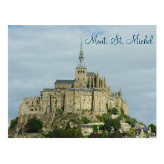 Mont Sint Michel UNESCO-Erbstandort, Frankreich Postkarte
