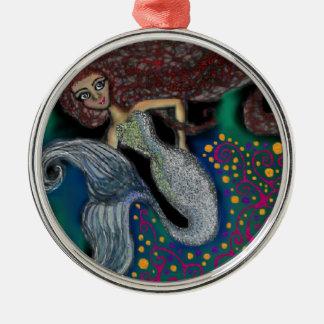 Montag die Meerjungfrau Silbernes Ornament