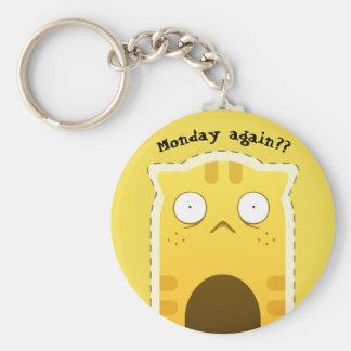 Montag-Katze keychain Schlüsselanhänger