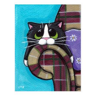 Montag Morgen Blues - Katzen-Postkarte