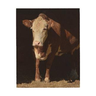 Montag Morgen Grump-Kuh Holzdruck
