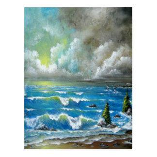 Montag-Regen-Entwurf Postkarte