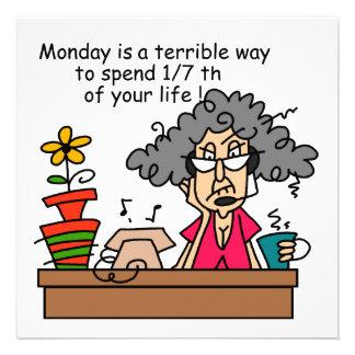 Montag-Spaß Personalisierte Ankündigungskarten