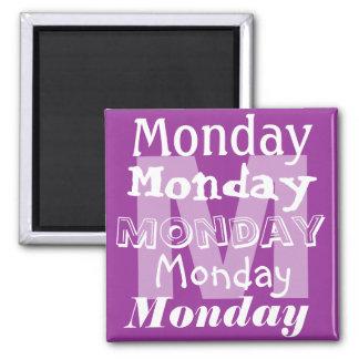 Montag-Werktag des Woche Magneten Quadratischer Magnet