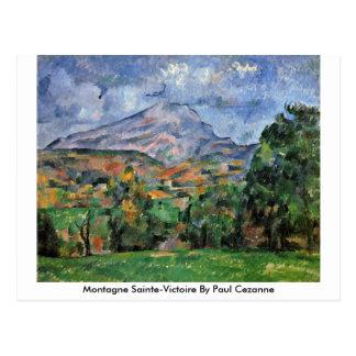 Montagne Sainte-Victoire durch Paul Cezanne Postkarte